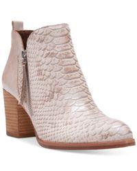 Donald J Pliner | White Edyn Block-heel Ankle Booties | Lyst