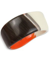 Robert Lee Morris | Multicolor Tri-tone Resin Sculptural Bangle Bracelet | Lyst
