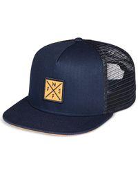 Neff   Blue Men's Crossbar Logo Trucker Hat for Men   Lyst