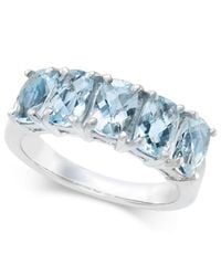Macy's | Blue Aquamarine Ring (2-3/4 Ct. T.w.) In Sterling Silver | Lyst