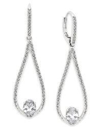 Danori | Metallic Silver-tone Crystal Drop Earrings | Lyst