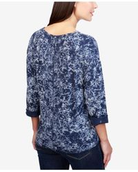 Lucky Brand - Blue Cotton Tie-dye Graphic T-shirt - Lyst