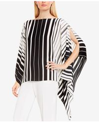 Vince Camuto   Black Striped Poncho Top   Lyst