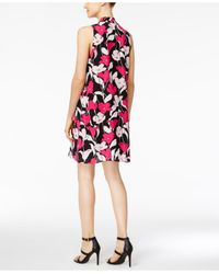 Vince Camuto Pink Floral-print Shift Dress
