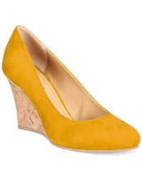 Rialto | Yellow Celina Wedge Pumps | Lyst