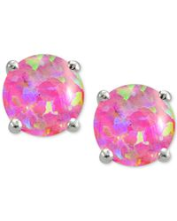 Giani Bernini | Pink Iridescent Stone Earrings In Sterling Silver | Lyst