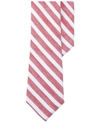 Lauren by Ralph Lauren | Men's Seasonal Red Stripe Tie for Men | Lyst