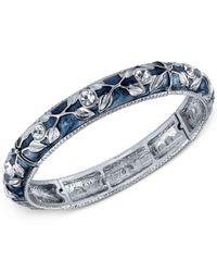 2028 | Metallic Silver-tone Blue Enamel And Crystal Vine Stretch Bracelet | Lyst
