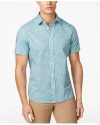 Michael Kors | Blue Men's Thompson Plaid Cotton Shirt for Men | Lyst