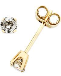 Macy's - Metallic Diamond (1/4 Ct. T.w.) Stud Earrings In 10k Gold - Lyst