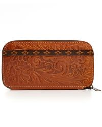 Patricia Nash | Brown Tooled Oria Wallet | Lyst