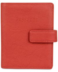 Kenneth Cole Reaction | Red Deluxe Passport Wallet With Rfid | Lyst