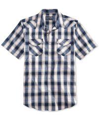 American Rag - Blue Men's Nathaniel Plaid Shirt for Men - Lyst