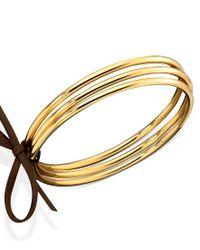 Lauren by Ralph Lauren | Metallic Gold-tone Bangle Bracelet Set | Lyst