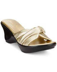 Callisto | Black Gaylenn Platform Wedge Sandals | Lyst
