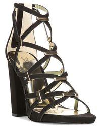 Carlos By Carlos Santana | Black Francesca Block-heel Platform Sandals | Lyst