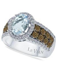Le Vian | Multicolor Aquamarine (1-3/8 Ct. T.w.) And Diamond (3/4 Ct. T.w.) In 14k White Gold | Lyst