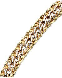 Macy's   Metallic Mesh Bracelet In 14k Gold Over Sterling Silver And Sterling Silver   Lyst