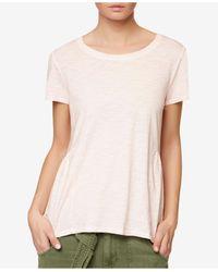 Sanctuary | Pink Off-duty Cotton Short-sleeve T-shirt | Lyst