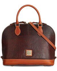 Dooney & Bourke | Brown Lizard-embossed Zip Zip Satchel, A Macy's Exclusive Style | Lyst