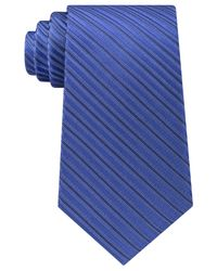Michael Kors | Blue Men's Ribbed Stripe Tie for Men | Lyst