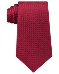 Michael Kors | Red Men's Split Square Solid Tie for Men | Lyst