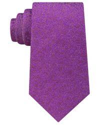 Sean John | Purple Men's Floral Solid Tie for Men | Lyst