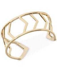 Vera Bradley | Metallic Gold-tone Geometric Openwork Cuff Bracelet | Lyst
