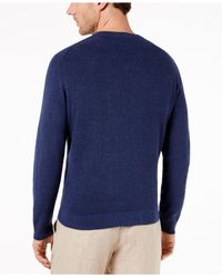 Tommy Bahama - Blue Men's Las Palmas Flip Pima Cotton Sweater for Men - Lyst