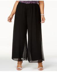 Alex Evenings - Black Plus Size Wide-leg Pants - Lyst