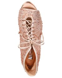 INC International Concepts - Pink Women's Rikelie Peep-toe Booties - Lyst
