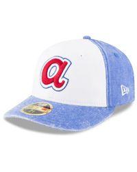 sale retailer 09847 09655 Men s White Atlanta Braves 59fifty Bro Cap