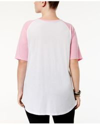 Hybrid - Pink Trendy Plus Size Breast Cancer Awareness T-shirt - Lyst