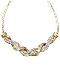 Macy's - Metallic 14k Gold Necklace, Diamond Swirl Twist (1/2 Ct. T.w.) - Lyst