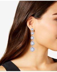 Kate Spade - Metallic Graduated Ball Linear Drop Earrings - Lyst
