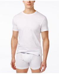 Polo Ralph Lauren - White Men's 3+1 Bonus Pack Crew-neck Undershirts for Men - Lyst