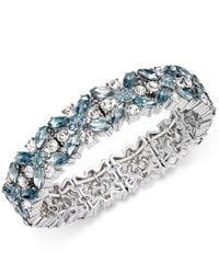 Charter Club   Metallic Clear & Colored Crystal Stretch Bracelet   Lyst