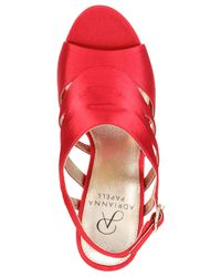Adrianna Papell Red Marlene Platform Evening Sandals