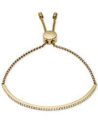 Michael Kors - Metallic Clear Bar Slide Bracelet - Lyst