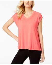 Calvin Klein - Pink Performance Gathered-back Top - Lyst