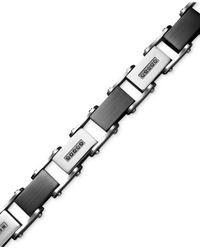 Macy's | Multicolor Men's Stainless Steel Bracelet, Black Diamond Link (1/2 Ct. T.w.) for Men | Lyst