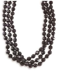Carolee | Multicolor Necklace, Jet Bead Long Rope | Lyst