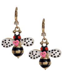 Betsey Johnson | Multicolor Bumble Bee Drop Earrings | Lyst