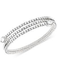 Swarovski - Metallic Twisty Crystal Pear-shaped Bangle Bracelet - Lyst