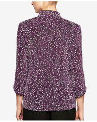Alex Evenings - Purple 2-pc. Mandarin Jacket & Shell - Lyst