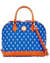 Dooney & Bourke - Blue Texas Rangers Zip Zip Satchel - Lyst