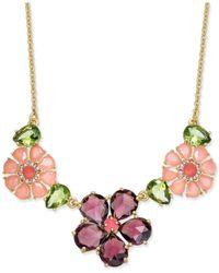 Kate Spade   Metallic Gold-tone Petite Floral Cluster Pendant Necklace   Lyst