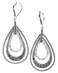 Judith Jack | Metallic Earrings, Marcasite And Crystal Teardrop | Lyst