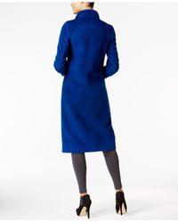 Jones New York - Blue Wing-collar Maxi Coat - Lyst