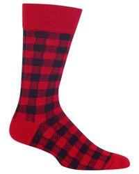 Hot Sox - Red Men's Buffalo Plaid Socks for Men - Lyst